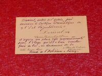CDV 7 LIGNES AUTOGRAPHES GEORGES DORIVAL (Acteur Collectionneur) 1907 Modigliani