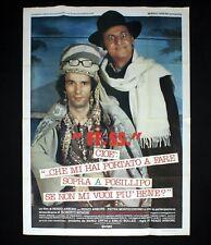 FF.SS. CHE MI HAI PORTATO A FARE poster manifesto Renzo Arbore Benigni D64