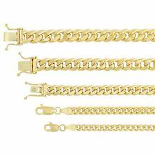 "14k Yellow Gold Miami Cuban Link Chain Necklace Bracelet 3.75mm-7.3mm Sz 8""-9"""