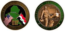 Military Coin Leaving Basrah Iraq Iraqi OIF Freedom War 2003-2010 Genuine