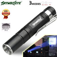 8000 LM Zoomable CREE XM-L T6 LED AAA Flashlight Torch 3 Modes Light Lamp US