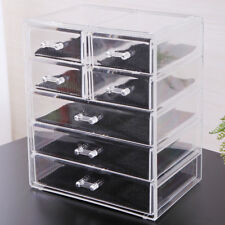 Clear Acrylic Jewelry Organizer Drawer Makeup Brush Box Display Holder Storage