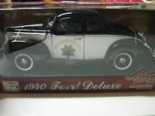 1:18 MOTORMAX 1940 FORD DELUXE V8 HIGHWAY PATROL TIMELESS CLASSICS
