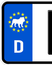 2x Aufkleber Englische Französische Bulldogge Nummernschild Kennzeichen Plakette