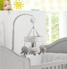 Silvercloud Counting Sheep Cot Mobile Musical