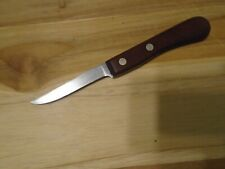 """ROBESON Sure-edge Frozen Heat 3"""" Paring Knife With Wood Handle"""