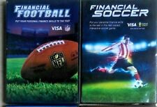 2 VISA CD-ROMS Financial Football & Financial Soccer - Educational PC Games