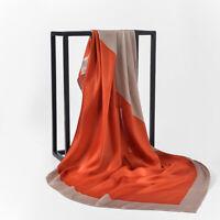 Women Long Scarf Wrap Faux Silk Shawl Large Patchwork Autumn Outdoor Scarves D