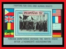 034.PHILIPPINES 1968 IMPERF STAMP M/S HUMAN RIGHTS, J.F.KENNEDY, FLAGS . MNH