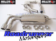 """Milltek SSXAU259 A3 1.8 TSI 2WD 08-12 Exhaust Cat Back Resonated 2.75"""" Twin JET"""