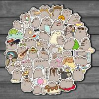 100Pcs Vinyl Cute Cat Sticker Bomb Graffiti Skateboard Luggage Laptop Decal Pack