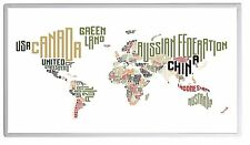 600W Fern Infrarotheizung Weltkarte Bild Elektroheizung Überhitzungsschutz TÜV