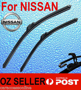 Pair Frameless Windscreen Wiper Blade For NISSAN SKYLINE R33 R34 1993 - 2001