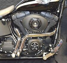 "Chrome 1 3/4"" LAF L.A.F Porkers Custom Exhaust Drag Short Pipes Harley Softail"
