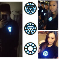 Iron Man LED Light Sound Control T-Shirt Tony Stark Reactor Women Men Tops Tee
