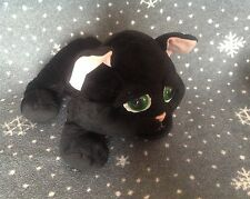 """RUSS BERRIE LARGE SHADOW CAT BLACK 13"""" COMFORTER SOFT TOY PLUSH IMMACULATE"""