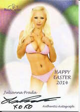 Julianna Prada 2014 cert auto Happy Easter Benchwarmers trading card