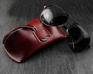 Wowen's Fashion Genuine Leather Vintage Eyeglasser Case Sunglasser Box