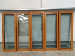 3.6m Solid Oak Prefinished External Bifold Doorset 54mm Ref ZA350
