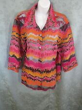 Notations Size XL Burnout Over Blouse 3/4 Sleeve