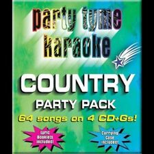 Party Tyme Karaoke: Country Party Pack [Box] by Sybersound (CD, May-2005, 4 Dis…