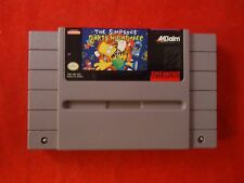 The Simpsons: Bart's Nightmare (Super Nintendo SNES 1992) game WORKS! Barts