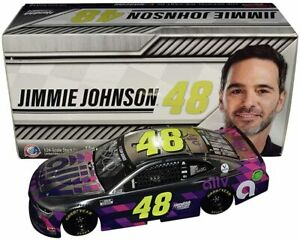 AUTOGRAPHED 2020 Jimmie Johnson #48 Ally White COLOR CHROME Signed 1/24 Diecast