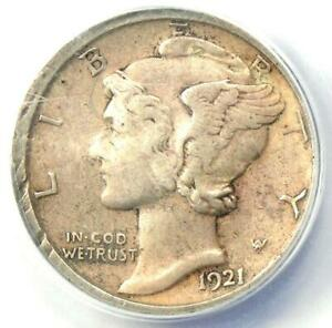 1921-D Mercury Dime 10C Coin - Certified ANACS XF40 Details - Rare Key Date!