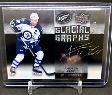 Andrew Ladd 2015-16 Upper Deck ICE Glacial Graphs Silver Autograph Auto #35/45