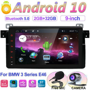 """9""""Car Stereo Sat nav for BMW 3 Series E46 M3 Rover 75 MG ZT Android 10 WIFI DAB+"""