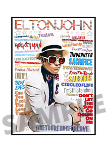 Elton John Pop Art Poster Memorabilia/Keepsake/Gift FREEPOST
