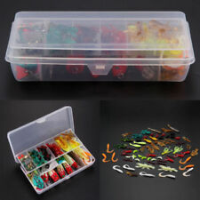 100pcs Fishing Lures Spinners Plugs Spoons Soft Bait Pike Trout Salmon+Case Set