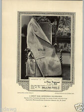1927 PAPER AD Marx & Haas Made Top Coat Ceiling Lighting Commercial Printing