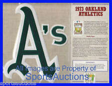 1973 OAKLAND ATHLETICS Willabee Ward COOPERSTOWN COLLECTION BASEBALL TEAM PATCH