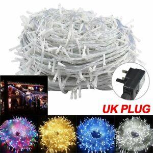 100-500 LED Electric Power Fairy String Light Party Xmas Garden Outdoor UK Plug