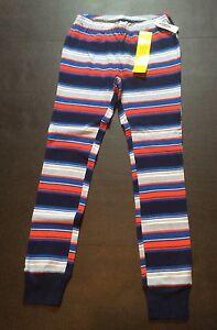 Girls Pajama Pants sz 10 OLD NAVY Poly Flannel Red/&White Stripes//SnowWomen NEW