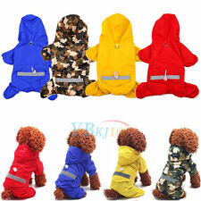 Pet Dog Puppy Rain Coat Double Clothes Outfit Waterproof Hooded Raincoat