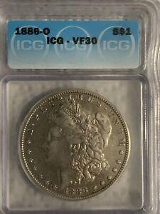 1886-O Morgan Silver Dollar VF30 ICG
