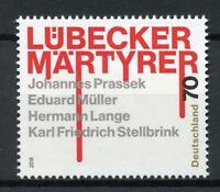 Germany 2018 MNH WWII WW2 Lubeck Martyrs Prassek Lange 1v Set Religious Stamps