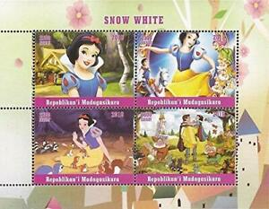 Madagascar 2018 Disney Snow White and the seven dwarfs - 4 Stamp Sheetlet Stamps