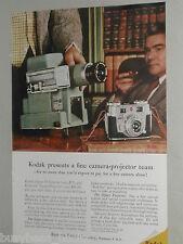 1956 Kodak ad, Kodak Signet 35 Camera and Projector