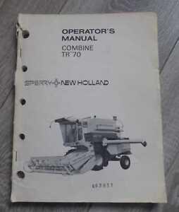 New Holland Sperry Mähdrescher TR70 Betriebsanleitung