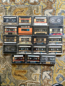Lot of 19 MAXELL Assorted  High Bias Cassette Tapes - Sold As Blank