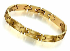 Fashionable Stainless Steel with 18K Gold Plated Men's Bracelet