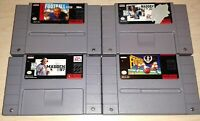 Super Nintendo SNES Lot of 4 NFL Football Games Play Action Madden 92 96 97