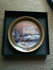 "Thomas Kinkade 2001 Victorian Christmas Ii third issue 9"" Plate #17122A"