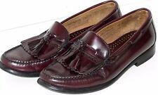 Mens Bass Loafers 11 Kiltie Tassel Leather Burgundy 11D