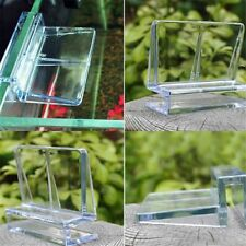 Aquarium Tank Clear Plastic Clips Glass Cover Strong Support Holders 4Sizes NEW