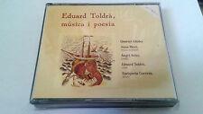 "EDUARD TOLDRA ""MUSICA I POESIA"" CD 25 TRACKS ANNA RICCI QUARTET GLINKA"