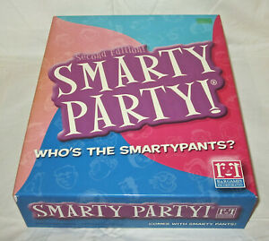NEW Second Edition Smarty Party Who's The SmartyPants? Game 2003 Sealed Gift Toy